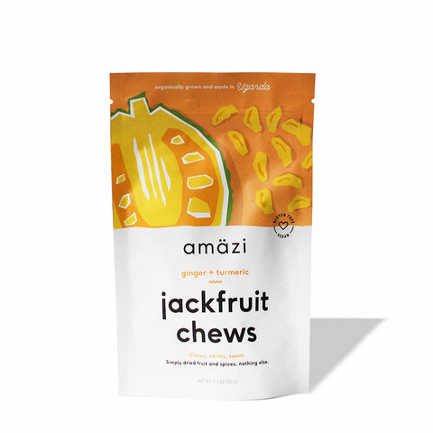 Amazi Foods Ginger Turmeric Jackfruit Chews - JRINK, Washington DC, Virginia and Maryland Cold-Pressed Juice Bar, Catering & 3-Day Cleanse Delivery.