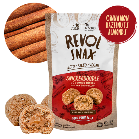 Revol Snax Snickerdoodle Bites - JRINK, Washington DC, Virginia and Maryland Cold-Pressed Juice Bar, Catering & 3-Day Cleanse Delivery.