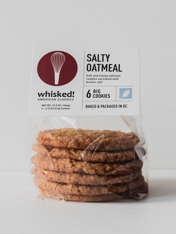Whisked! Salty Oat Cookies (6-pk) - JRINK, Washington DC, Virginia and Maryland Cold-Pressed Juice Bar, Catering & 3-Day Cleanse Delivery.
