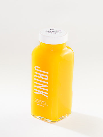 100% Cold-Pressed Orange - JRINK, DC Cold-Pressed Juice Bar, Subscription Service & Cleanse Delivery