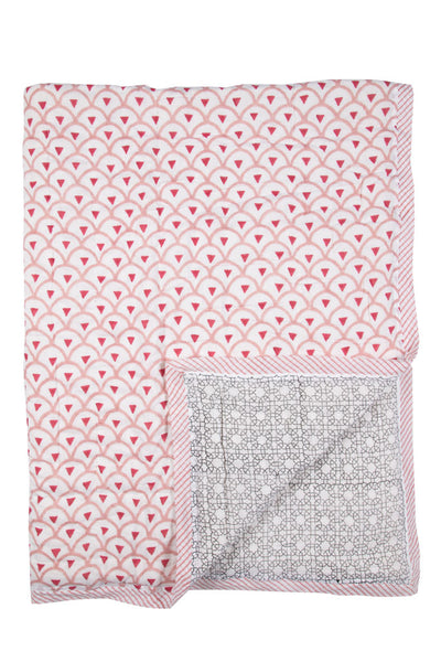 Kyoto Rose & Starburst Quilt - BABY/TODDLER