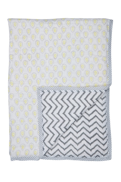 Diya & Grey Chevron Quilt - Single