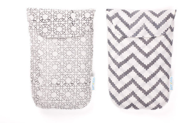 Grey Diaper Pouches