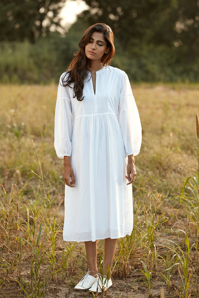 The perfect summer dress in white by Feroza Designs in 100% cotton