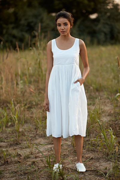 Bahar Dress - White