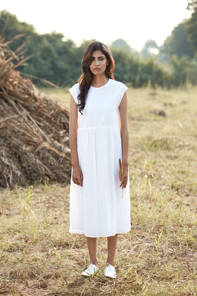 Lehar Dress - White