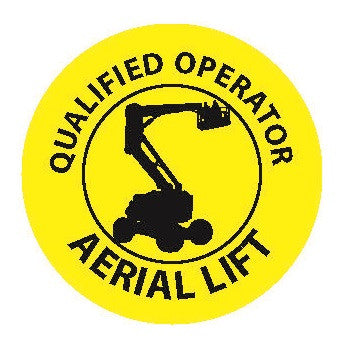 Certified Aerial Lift Operator Sticker – On-Track Safety Products