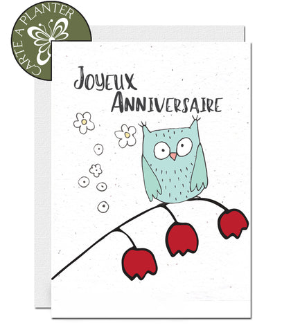 Eco-friendly plantable birthday cards. Environmentally friendly plantable card