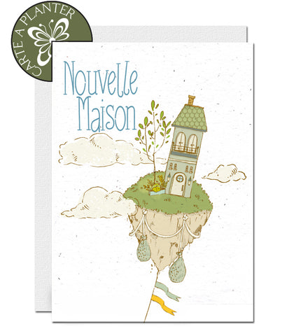 eco-friendly new home cards, cartes nouvelle maison écologiques