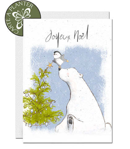 Eco-friendly Christmas card, plantable Christmas card
