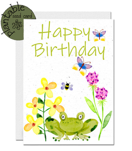 ecofriendly birthday card, carte d'anniversaire à planter