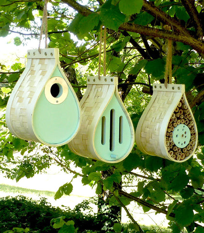 Eco-friendly Wildlife Habitats, environmentally friendly bird, butterfly and bee houses
