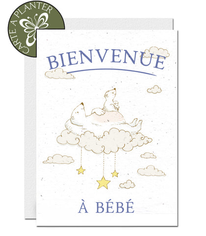 eco-friendly new baby cards, cartes de naissance éco-responsables