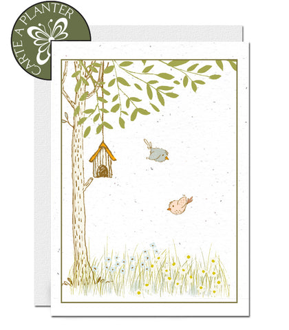 Eco-friendly thank you card, plantable thank you card