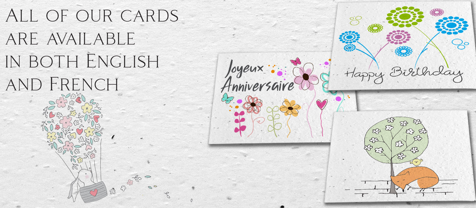 plantable cards - set of 6