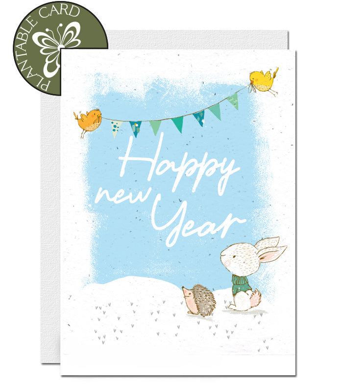 biodegardable new year card