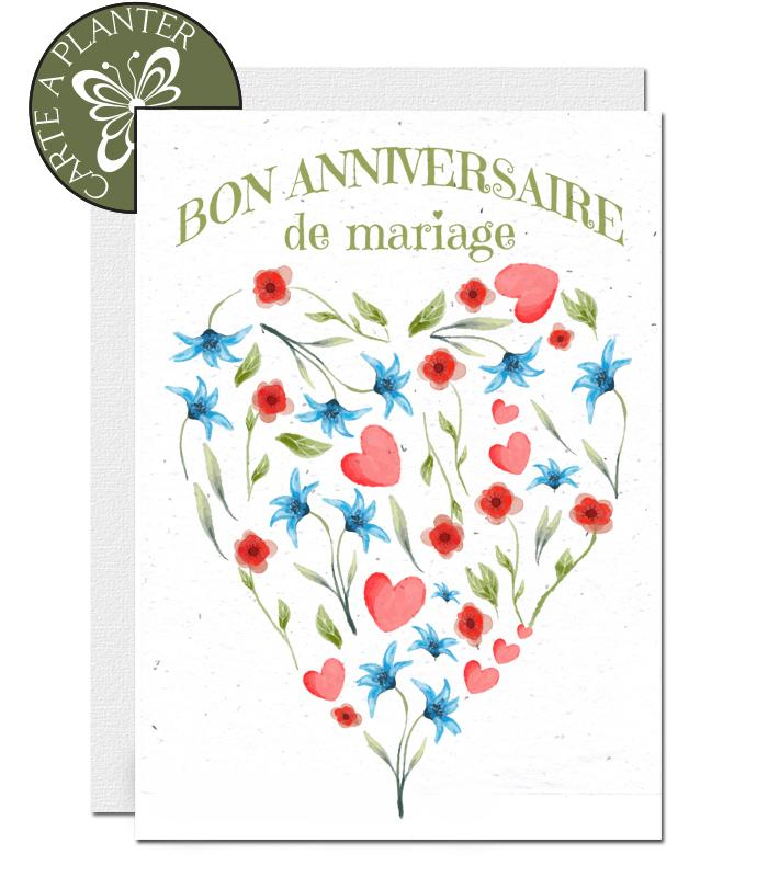 Ecofriendly wedding anniversary card