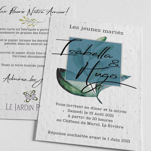 Carte Invitation éco-responsable