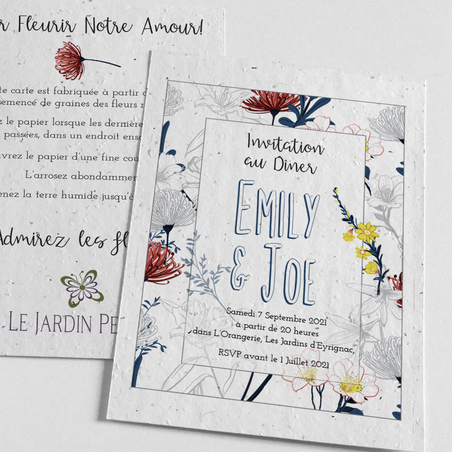 plantable evening reception invitation