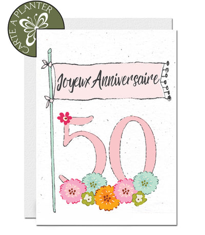 Carte à planter 50 ans
