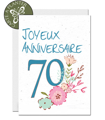 carte à planter 70 ans