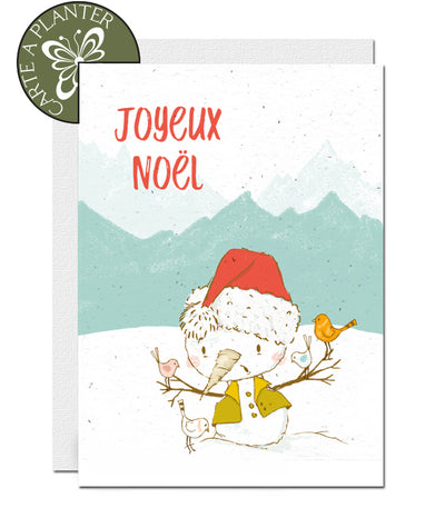Carte écoresponsable Noël