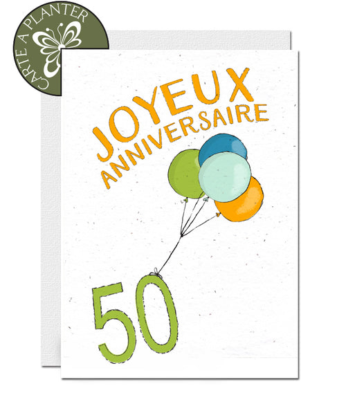 Cartes à planter ballon