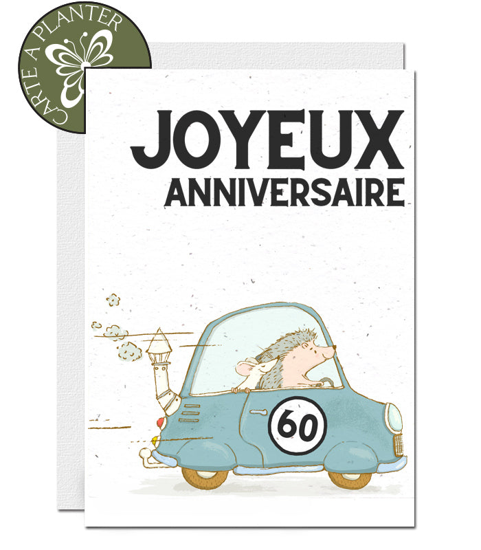 carte à planter 60 ans