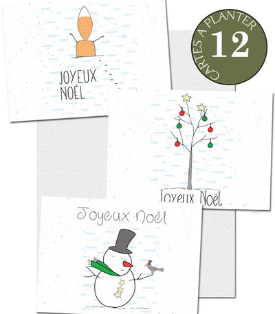 Cartes à planter Noël lot de 12