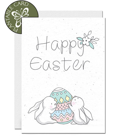 Plantable easter card Rabbits