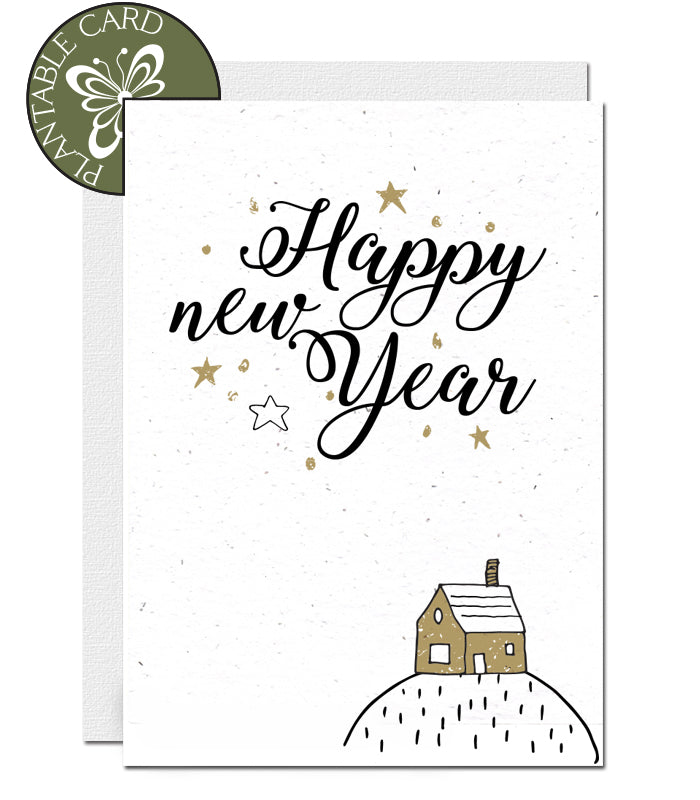 biodegradable New Year card
