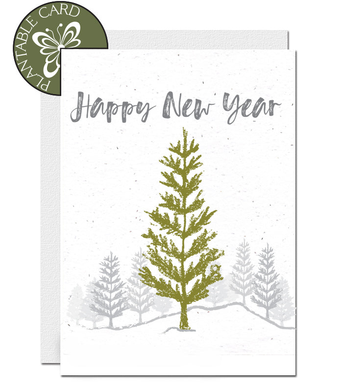 plantable card new year