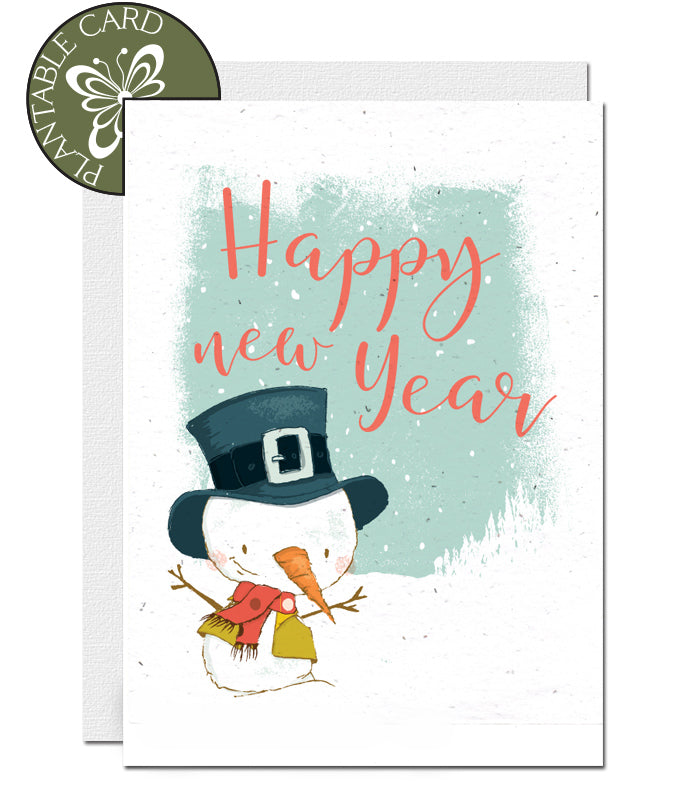 new year card seed paper