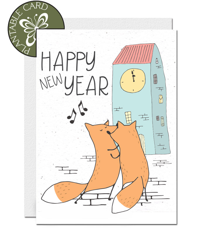 plantable new year card