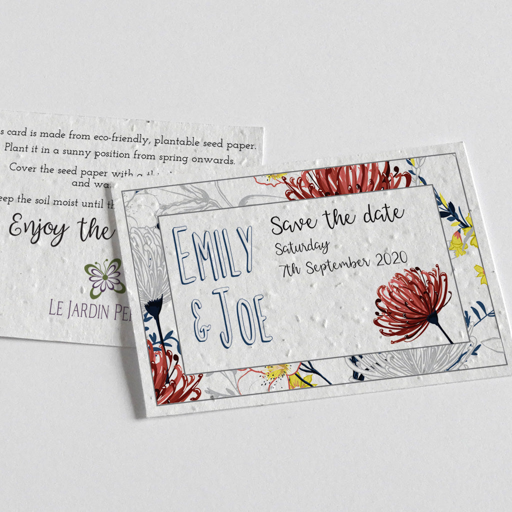 plantable save the date card