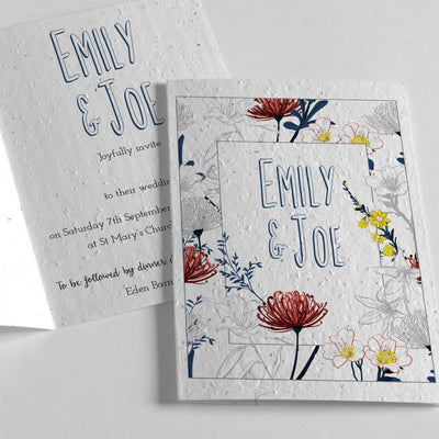 plantable wedding invitation