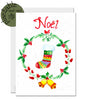 Eco-friendly plantable Christmas card - gardener, wildlife lover