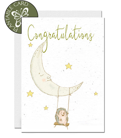 plantable card congratulations new baby