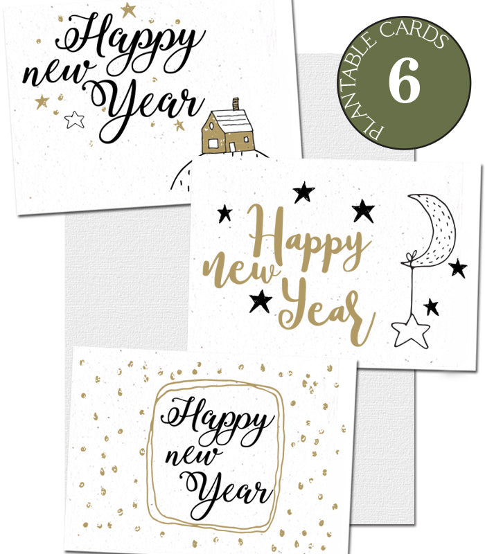 plantable cards Happy New Year