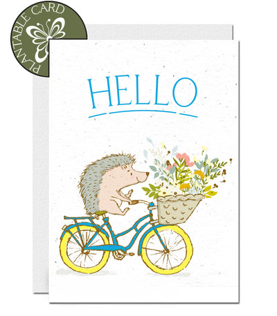 eco-friendly card hello