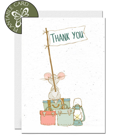 eco-friendly thank you card seed paper