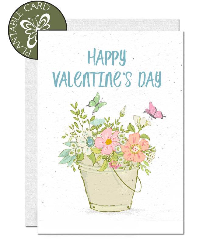 plantable card valentine's day