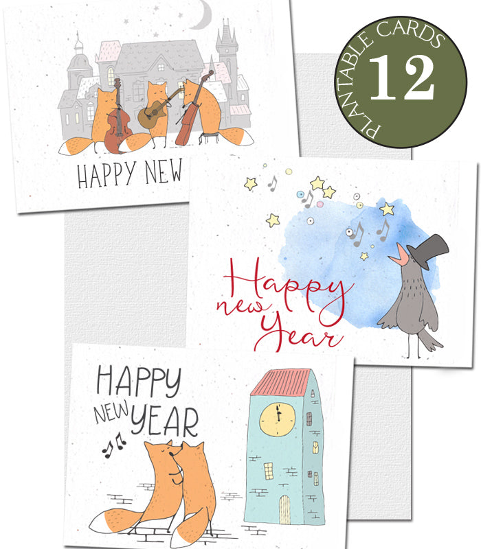 seed paper cards New Year