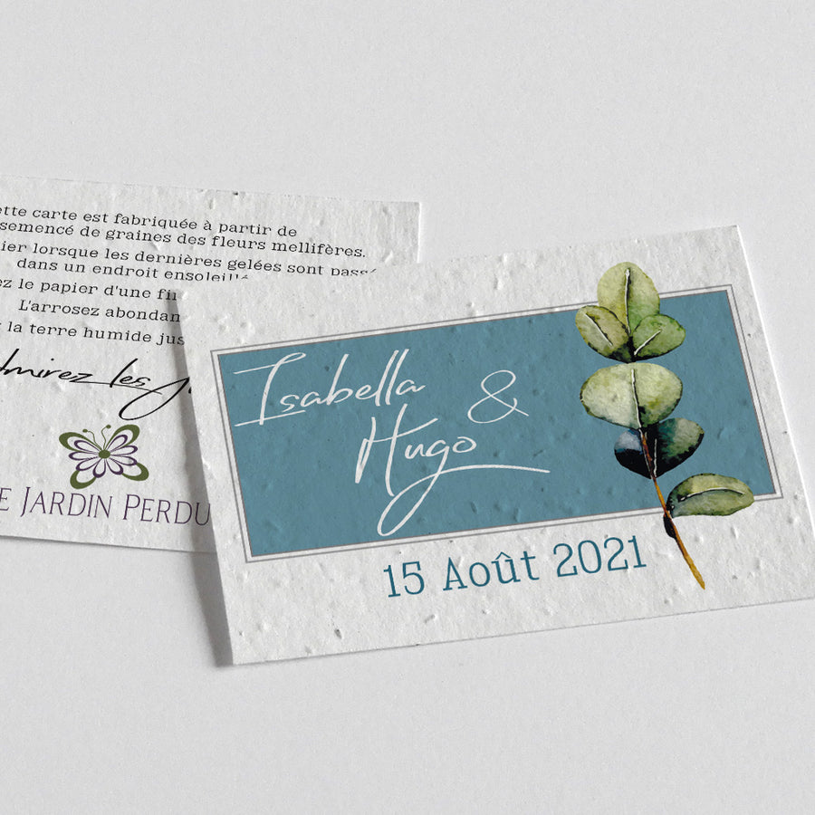 eco-friendly save the date card
