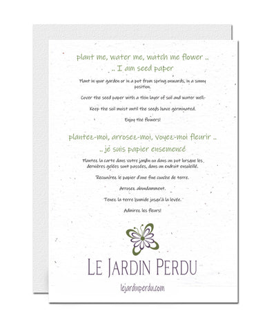 Planting instructions le jardin perdu
