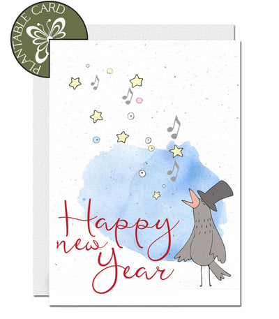 seed paper card happy new year
