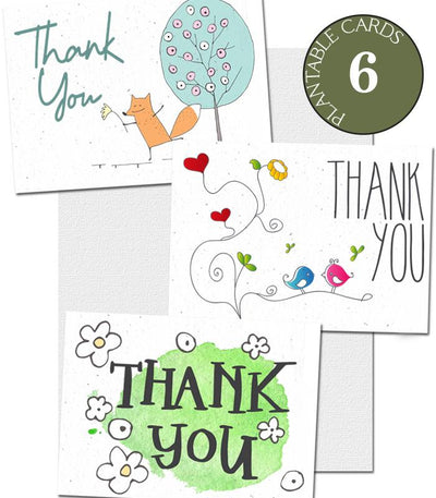 plantable thank you cards