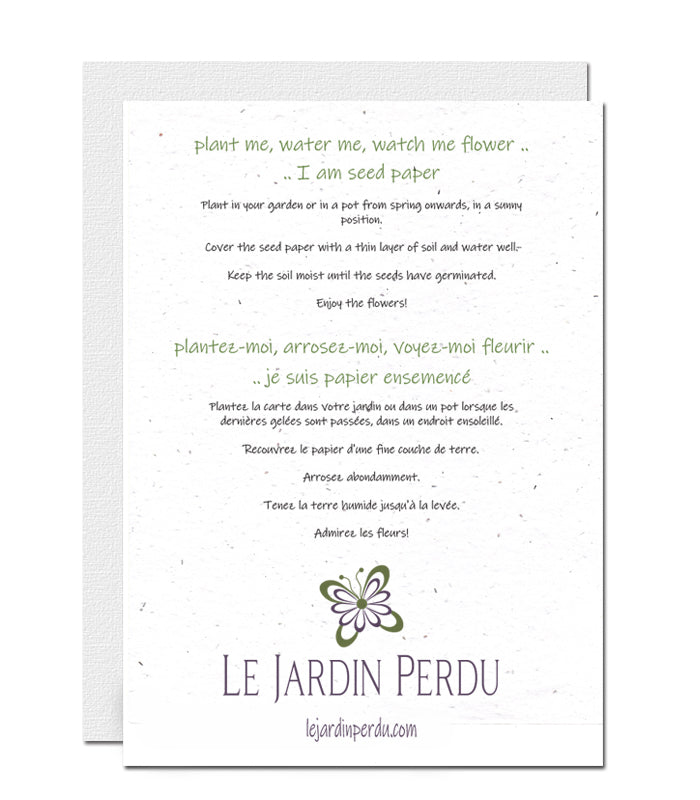 Plantable  Card - Personalised Garden