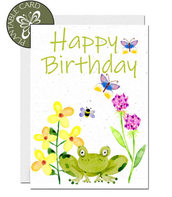carte d'anniversaire biodégradable