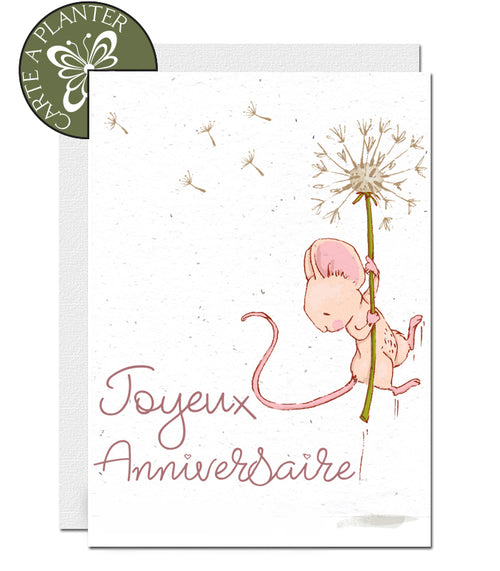 carte à planter anniversaire fille